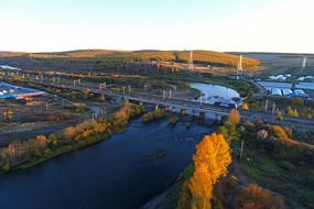 扎敦河上的滨洲线铁路大桥