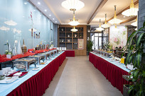 自助餐厅环境菜品走廊图