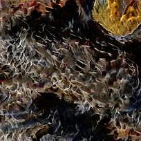 抽象夜晚景色装饰油画