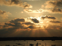 海边的夕阳