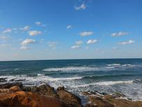 海水浴场下午美景
