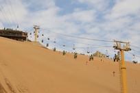 沙坡头沙漠缆车