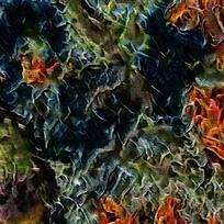 北欧艺术装饰火焰油画