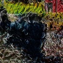 抽象斑斓炫彩装饰火焰油画