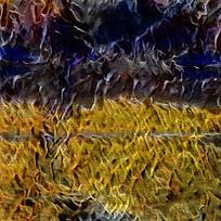 抽象奔跑骑士装饰火焰油画