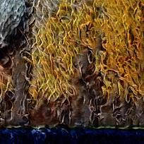 抽象参天大树装饰火焰油画