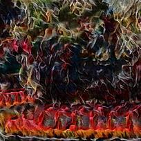 抽象复兴文艺装饰火焰油画