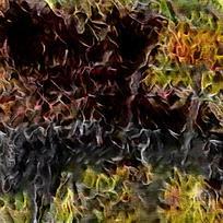 抽象灌木丛林装的火焰油画