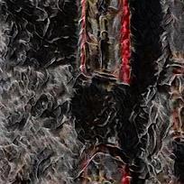 抽象黑色迷雾装饰油画