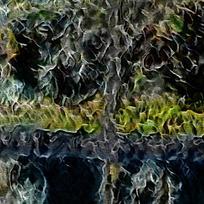 抽象河畔树木客厅装饰油画