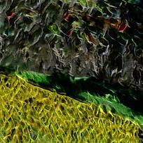 抽象河畔庄田客厅装饰油画