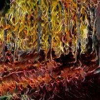 抽象金色树林园装饰火焰油画