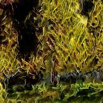 抽象金色树林装饰油画