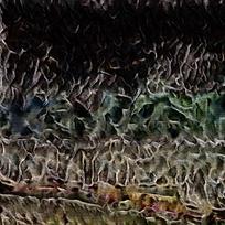 抽象枯萎森林装饰火焰油画