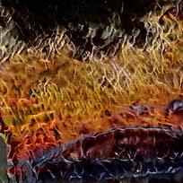 抽象烈焰冲天装饰火焰油画
