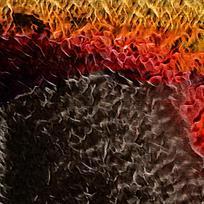 抽象烈焰燃烧装饰火焰油画