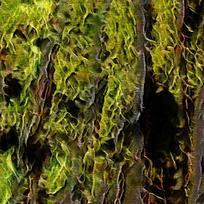 抽象绿色森林装饰油画