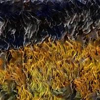 抽象欧美风格装饰火焰油画