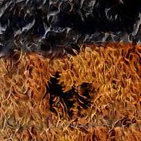抽象艺术火焰装饰背景墙