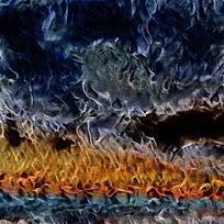抽象自然景象装饰油画