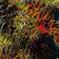 酒吧抽象装饰火焰油画
