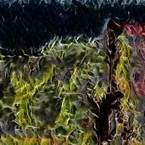 时尚炫彩火焰装饰背景墙