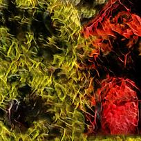 卧室抽象简约装饰火焰油画