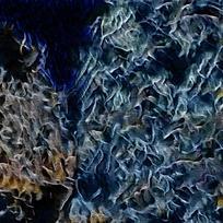卧室抽象时尚装饰火焰油画