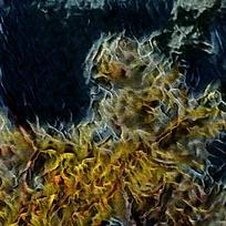 卧室抽象文艺装饰火焰油画