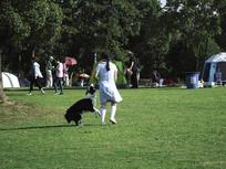 小女孩与狗