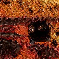 时尚火焰艺术装饰油画