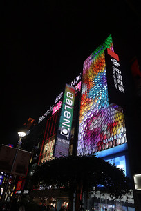 色彩灯光建筑
