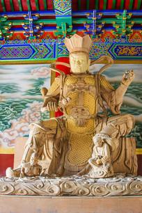 西方广目天王魔礼寿职顺雕像