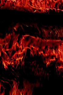 红色抽象火焰屏幕背景