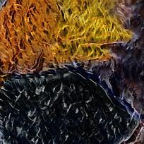 北欧抽象复古装饰油画