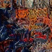 北欧大气复古装饰油画