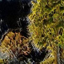 炫彩斑斓火焰底纹油画