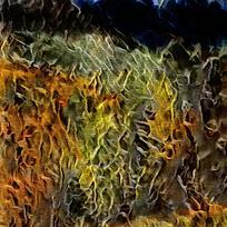 炫彩火焰装饰油画底纹