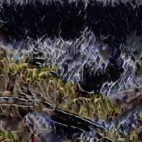 抽象火焰创意装饰油画