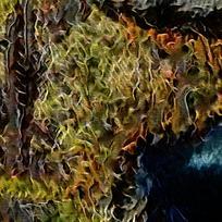 抽象火焰纹理油画背景