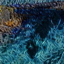 抽象火焰油画玄关装饰