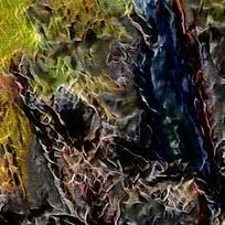 抽象室内装饰火焰油画