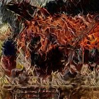 抽象艺术火焰印花背景
