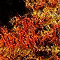抽象造型火焰底纹印花