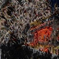 创意火焰装饰油画背景