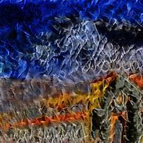 创意蓝色火焰背景素材
