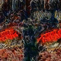 复古斑斓室内装饰火焰油画