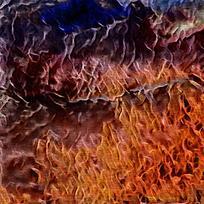 简约艺术火焰装饰油画