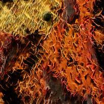 梦幻抽象火焰油画背景