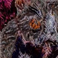 欧式室内装饰火焰油画